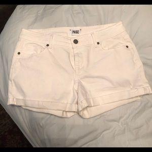 Paige White Denim Shorts